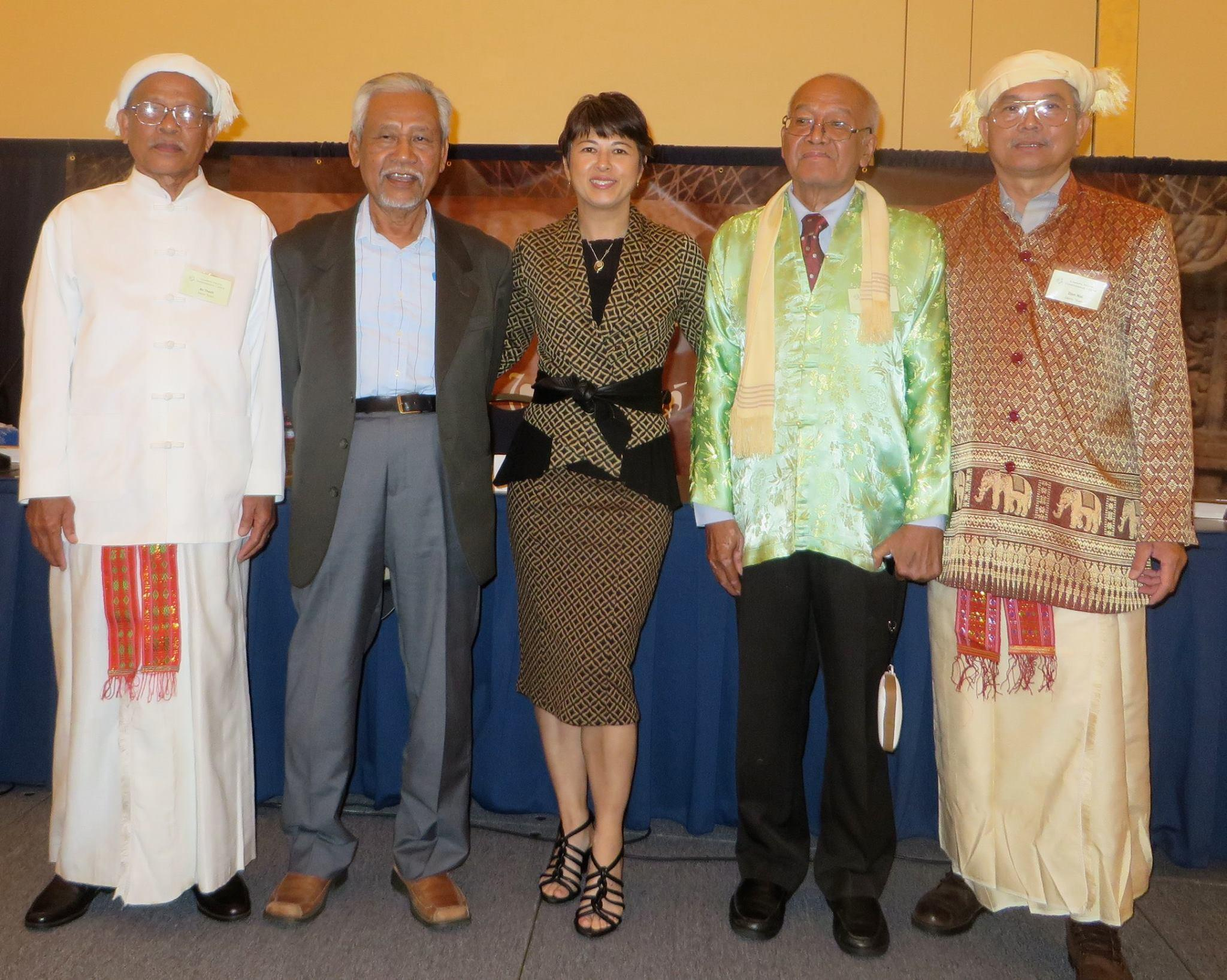 Professor Valverde, middle, with Cham elders from the US and France